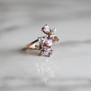 LeVian Butterfly ring amethyst size 7